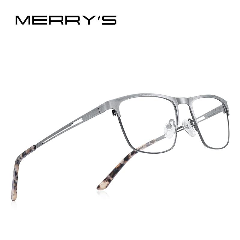 MERRYS DESIGN Titanium Alloy Reading Glasses For Men Women Anti Blue Light Blocking CR-39 Resin Glasses Lenses S2281FLH