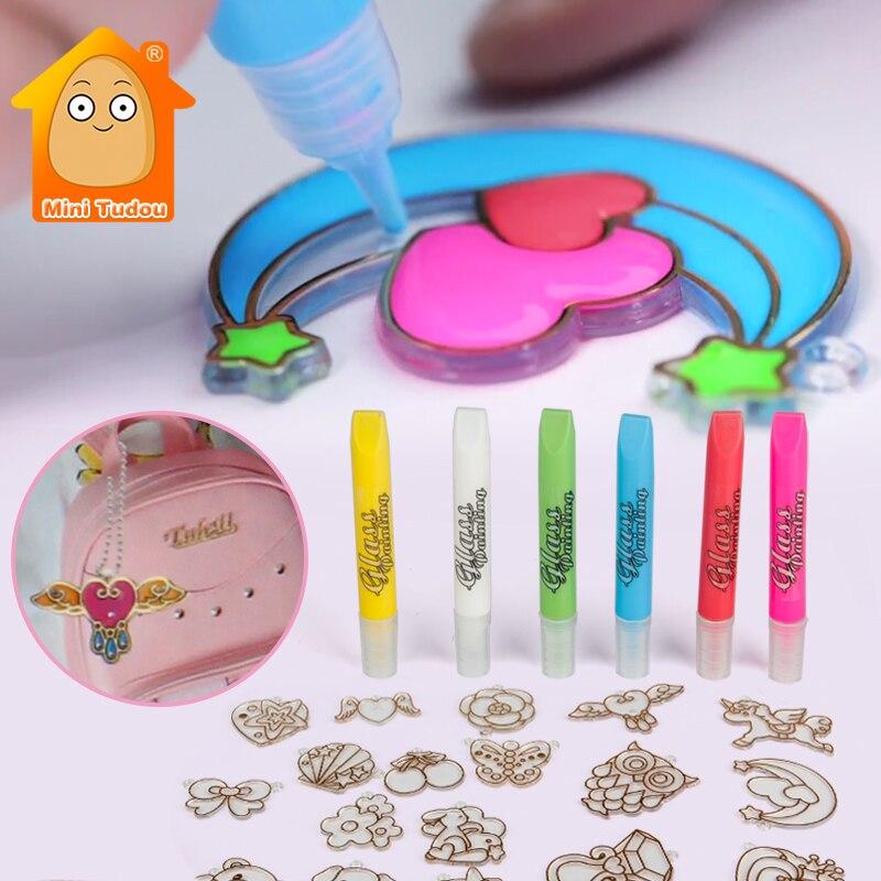 Girls DIY Handmade Painting Pendants Toys Fashion Making Bracelets Kits Kids Jewelry Making Set Educational Toys For Children