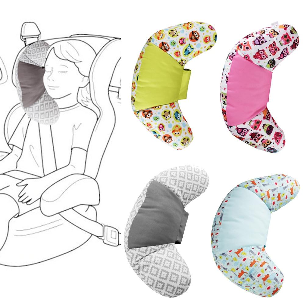 1pc Bady Head Support Pad de fijaci/ón Ni/ños Cochecito de ni/ño Asiento de seguridad Cintur/ón para dormir Productos de cuidado de ni/ños