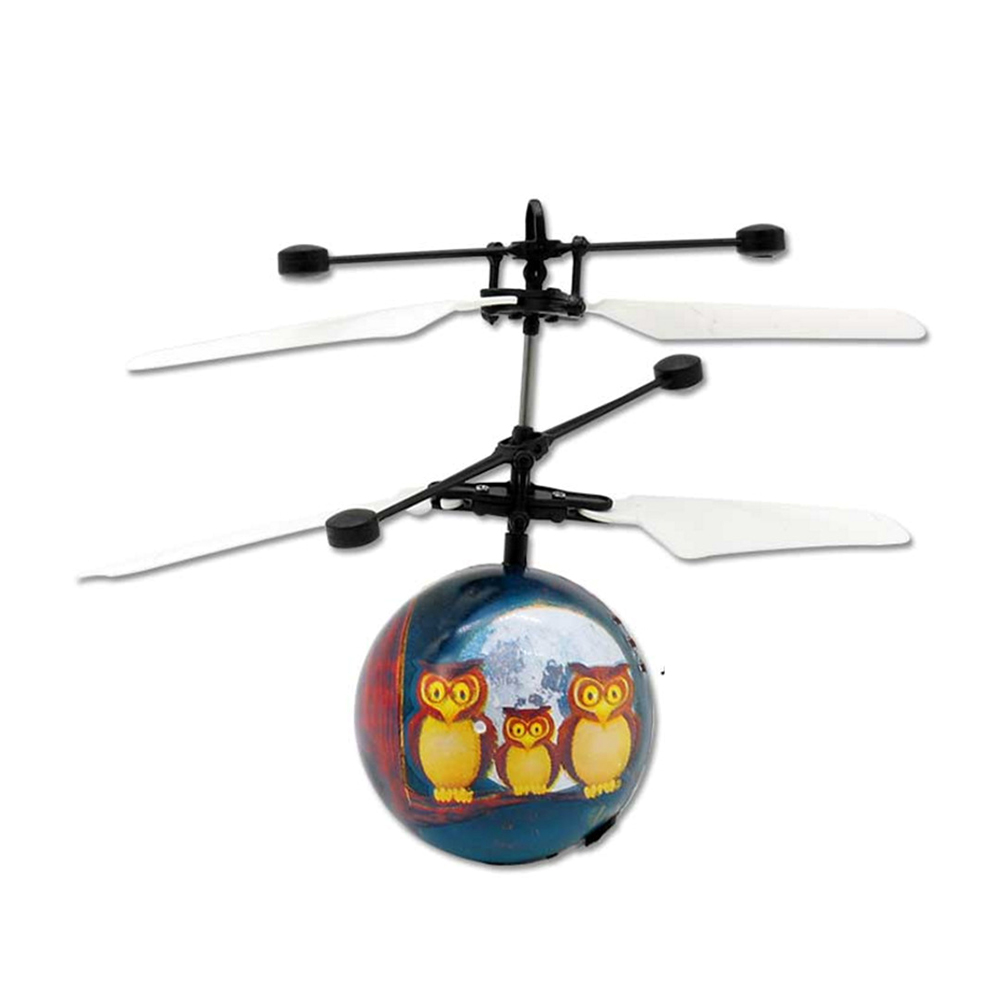 Hand Operated Flying Drone Innovative Sensor Owl Aircraft Ball With Light Electric Children Toys Magic Sensing Helicopter