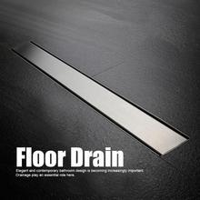 Bathroom Floor Drain 500MM/600MM/700MM/800MM/900MM Stainless Steel Tile Insert Linear Long Shower Grate Tile Drains Tool