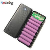8X18650 Digitale Display Power Bank Batterij Box Draagbare Diy Kit Mobiele Batterij Lader Doos Mobiele Telefoon Oplader Shell voor Iphone