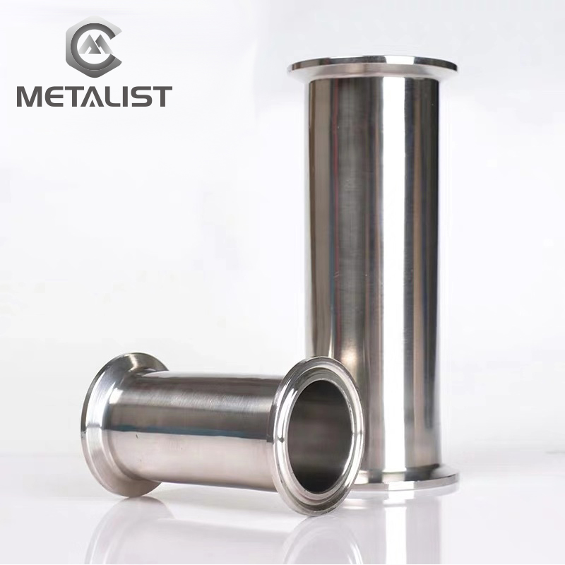 METALIST 12-89mm Customized OD  Customized Length Sanitary Spool Tube With Flange Fitting Tri Clamp Hot