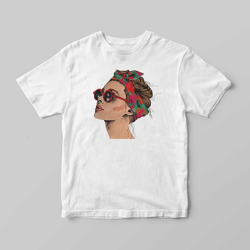 Europäischen Und Amerikanischen Stil Frau Tragen EIN Kopftuch Frauen T-shirt Harajuku Ästhetischen Kawaii Tumblr Baumwolle Kurzarm Kleidung