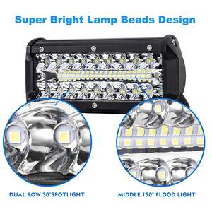 "Image 3 - Nlpearl 2x 7"" 12"" 120W 240W LED Bar Light Bar for Driving Offroad Boat Car Tractor Truck ATV Spot Flood Combo LED Work Light Bar"