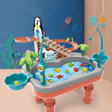 Children's Magnetic Fishing Toy Parent-child interactive Educational Toys Electric Penguin Stair Climbing Boys Girls gift