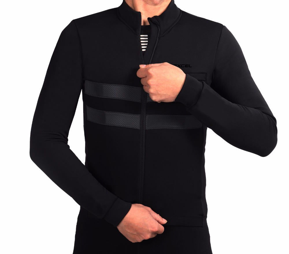 SPEXCEL classic cool design best quality winter thermal fleece reflective cycling jersey long sleeve cycling clothing 2 colour