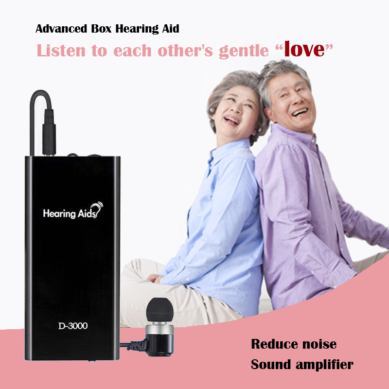Rechargeable Hearing Aid Amplifier With Remote Control Volume For The Elderly Cassette Aids