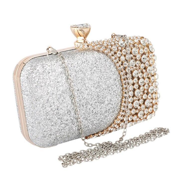 Damskie błyszczące kryształki torebki wieczorowe Wedding