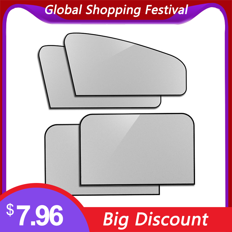 4pcs 80   50cmCar Window Strong Magnetic Good Sealing Sunshade Sunscreen Car Window Shade Suitable For Most Vehicles