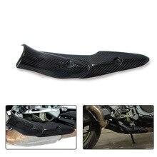 Motorrad Auspuff System Nahen Link Rohr Carbon Faser Hitzeschild Abdeckung Schutz Anti Verbrühungen Shell Für Kawasaki Z900 2017 2019