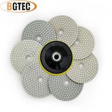 Bgtec 4 дюймовые 7 шт/компл влажные Алмазные Гибкие Полировальные
