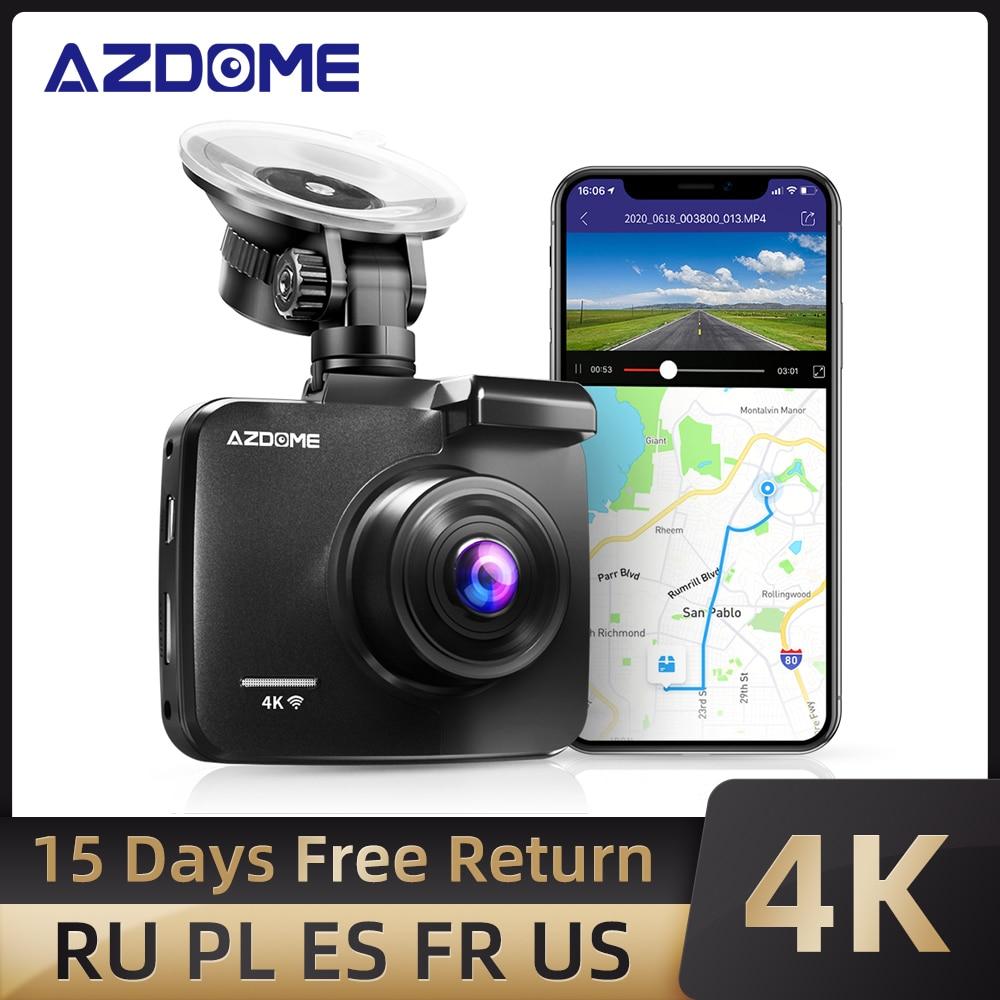 AZDOME GS63H 4K 2160P lente Dual integrada GPS WiFi FHD 1080P cámara frontal + VGA cámara trasera coche DVR cámara de salpicadero visión nocturna