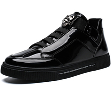 High Top Brand Leather Men Casual Shoes Thick Sole Fashion Sneakers Male Flats Shoes Footwear Zapatillas Hombre Mens Designer jackshibo fashion mens shoes casual artificial leather thick soled male shoes footwear size 39 44 lace up zapatillas hombre