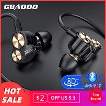 CBAOOO DT05 Bluetooth Earphone 5.0 Wireless earbuds Sport Dual Driver Headphones