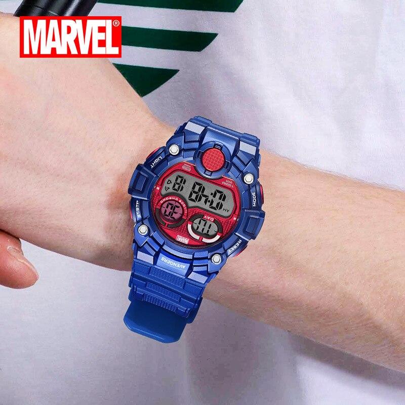 Мужские спортивные часы, двойной дисплей, аналоговый цифровой светодиодный, электронные кварцевые наручные часы, водонепроницаемые, 50 м, ал... - 4