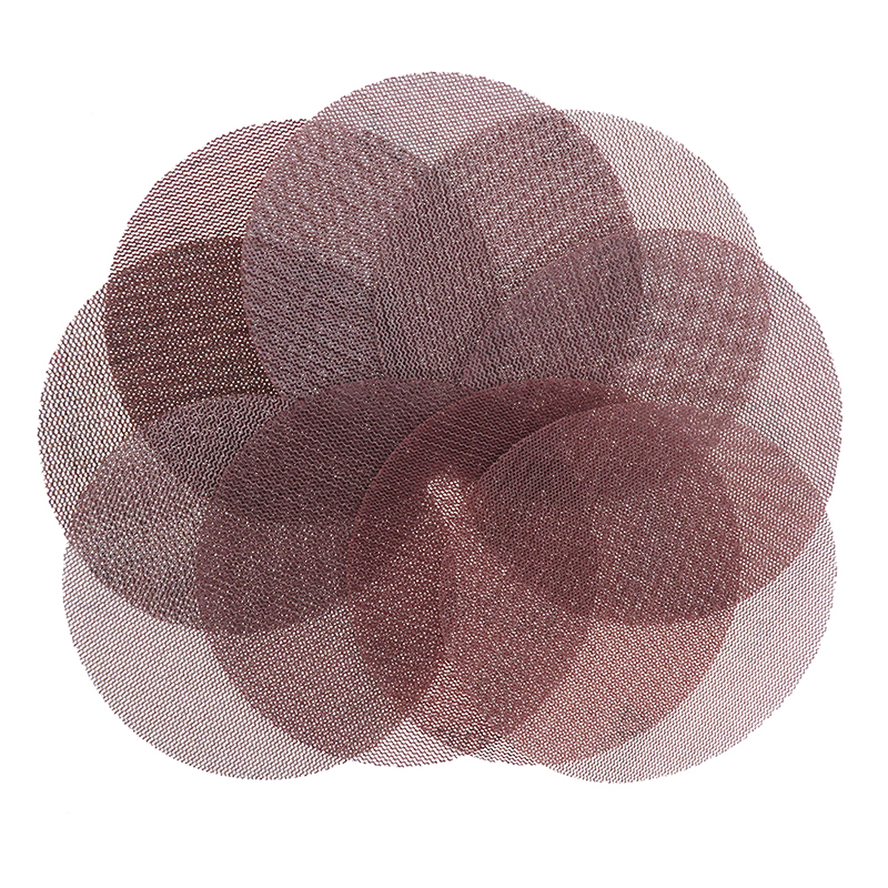 18Pcs 5 Inch 125mm Mesh Abrasive Dust Free Sanding Discs Sandpaper Anti-blocking Dry Grinding 80 to 600 Grit Removal and finish