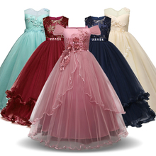 Christmas Girl Dress Children Ceremony Party Dress Girls Costume Kids Dresses Flower Girls Wedding Gown Formal Wear Teenagers