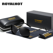RoyalHot Men Women Polarized Sunglasses Oval Aloy Frame Sun Glasses Driving Shades Oculos masculino Male 90092