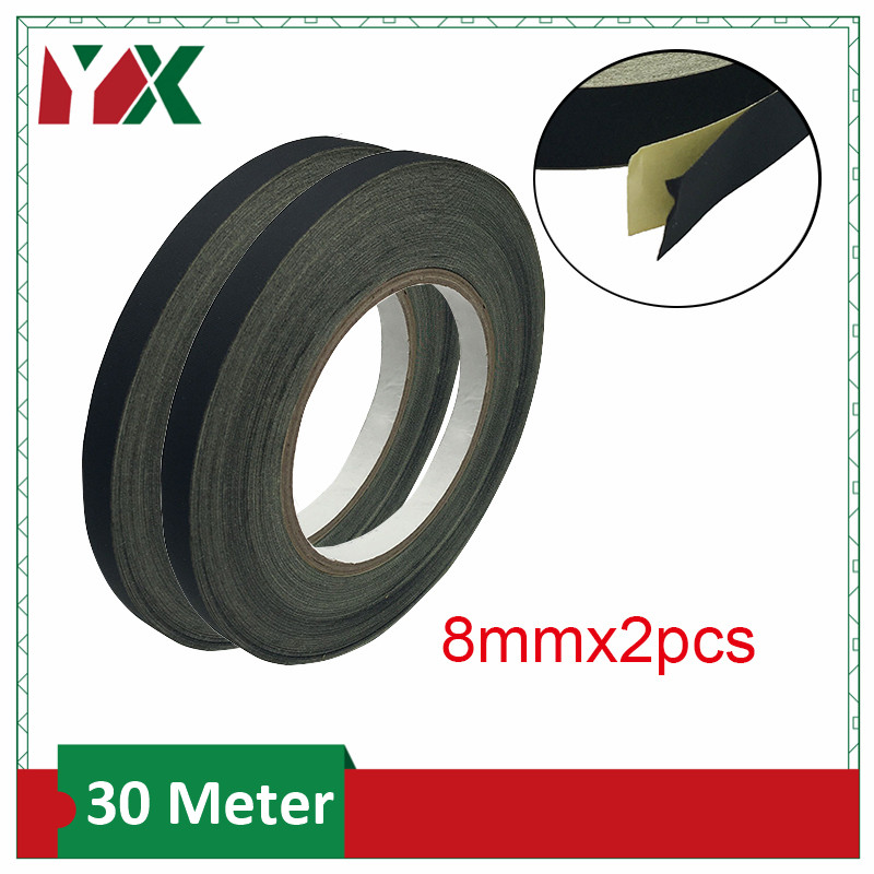 YX 8mm Acetate Cloth Tape 2Rolls Sticky for Laptop PC Fan Monitor Screen Motor Wire Wrap Insulated Rubber Tape(China)
