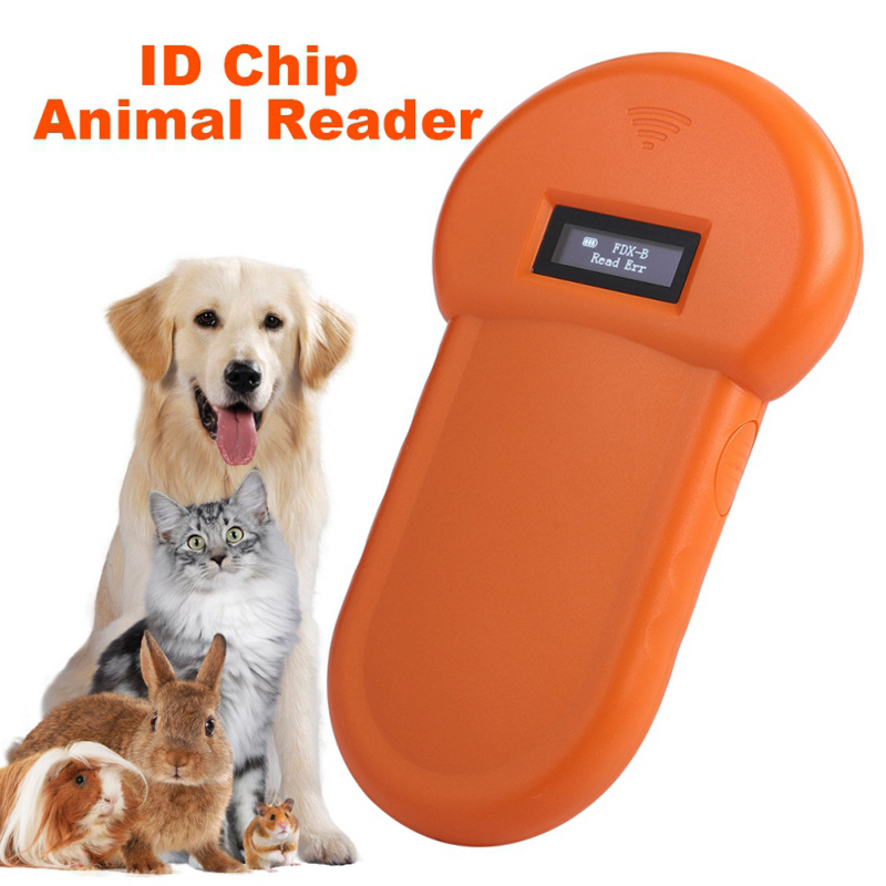 Portable 134.2KHz Pet RFID Chip Reader ISO11784/11785 FDX-B For Dog Cat LCD Display Animal Microchip Scanner Tag Barcode Scanner