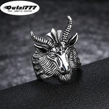 oulai777 men ring stainless steel silve punk big rings light for mens lord of the animal rings male accessories fashion jewelry стоимость