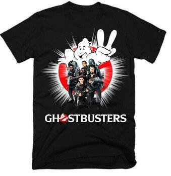 Ghostbusters Movie podopieczny koszula Hip Hop Streetwear z nadrukiem sharked Homme i 2019 T Shirt czarny z białe koszulki czarny Top