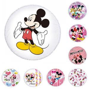Disney Mickey Minnie Mouse пляжное полотенце из микрофибры купальное банное полотенце Коврик для пикника Коврик для йоги с кисточкой для взрослых дете...