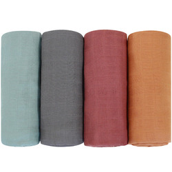 120x120cm Bamboo Blanket Swaddle Blankets Baby Muslin Swaddle Solid Plain Color Cotton Baby Blanket Newborn Infant