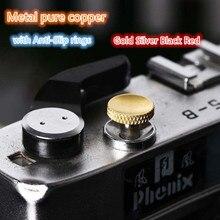 กล้องชัตเตอร์ปุ่มทองเงินทองแดงบริสุทธิ์สำหรับ Fujifilm XT3 XT30 XT20 Leica M Series Micro SLR กล้อง