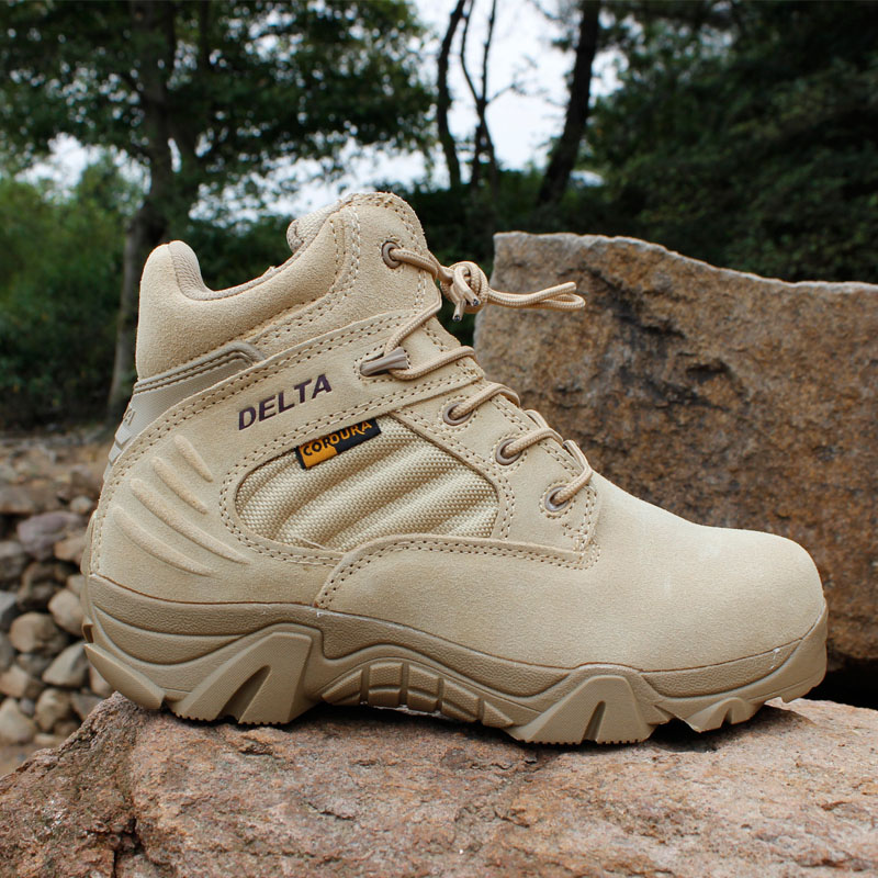 Men's Winter Military Shoes Tactical Desert Combat Ankle Boats Army Work Shoes Plus Size 39-47 Leather Snow Boots