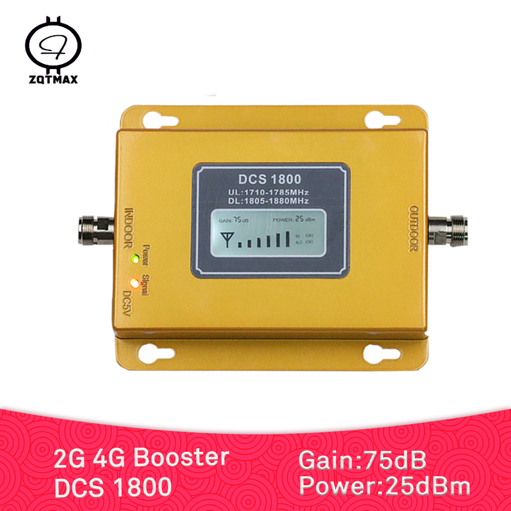 ZQTMAX 75dB 2G 4G Cell Phone Signal Booster DCS 1800 Repeater Lte Cellular Amplifier For Fashion Home And Office