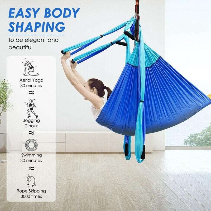 Yoga aérea balanço hammockindoor anti gravidade pendurado