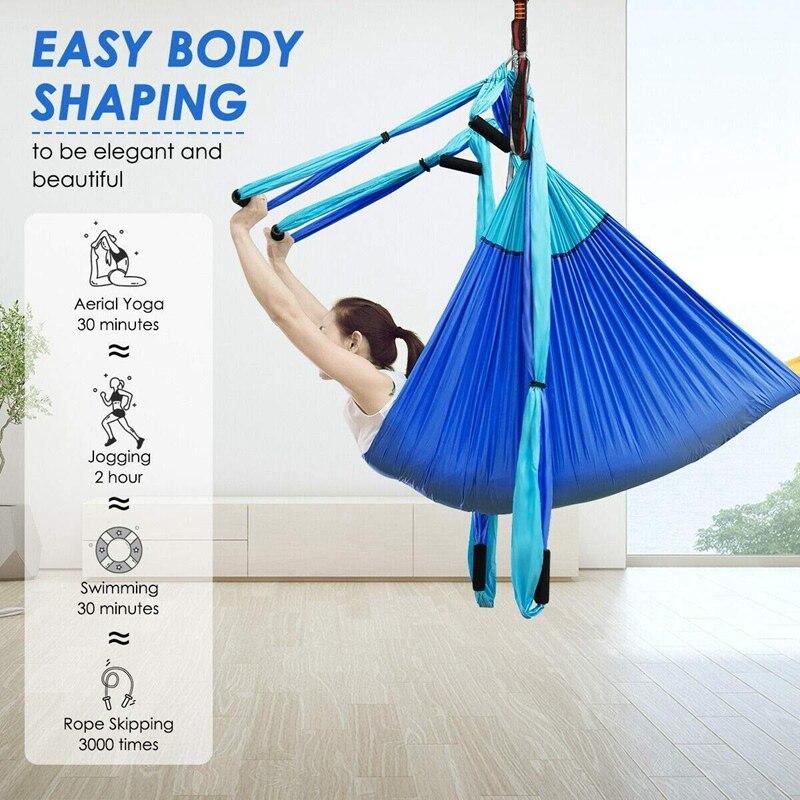 Conjunto de Ferramentas Yoga Aérea Balanço Hammockindoor Anti Gravidade Pendurado Sling Fitness Mod. 312587