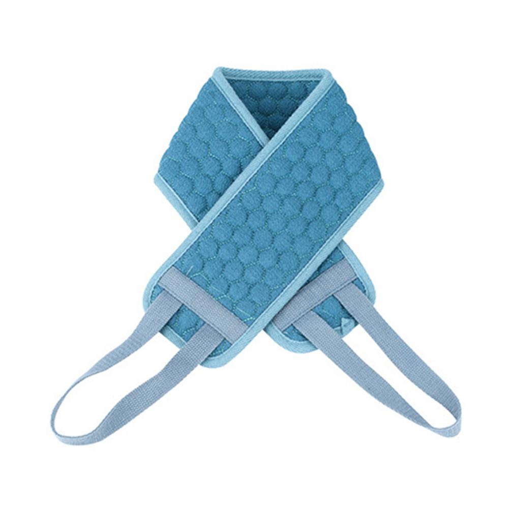 Fancy Double-Sided Soft Fiber Exfoliating Back Strap Shower Body Scrubber Soft Bath Towel Sponges