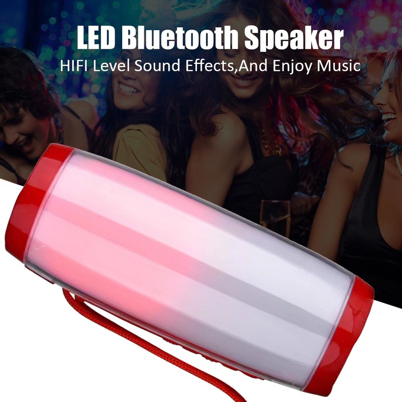 LED Portable Bluetooth Speaker Waterproof Fm Radio Wireless Boombox Mini Column Bass Subwoofer Mp3 USB Computer Tv Sound Bar Box