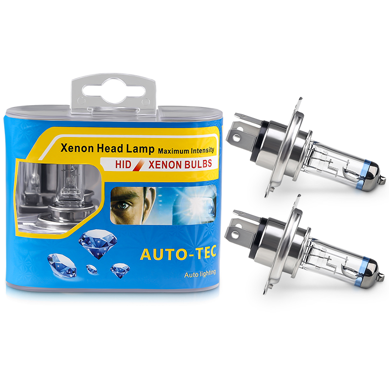1pair/2pcs H4 12V 60/55W P43T Halogen Headlights 4300k High/Low Beam H4 Car Halogen Bulb Head Light For BMW For Audi