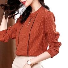 Fashion Polka Dot Shirts Blouses For Women Breathable Comfortable Soft Chiffon Shirts Business Tops Elegant Casual Women Shirts