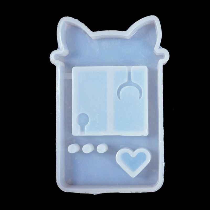 Baru Shaker Cetakan Pasir Kucing Konsol Permainan Epoxy Resin Cetakan Silikon Cetakan Tongkat Semprotan Minyak Kerajinan Liontin Alat