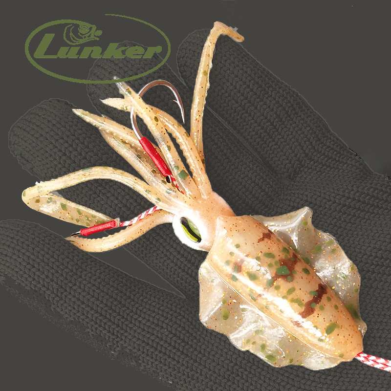 Lunker Soft Squid Octopus Calamar 45g Luminous Glow Uv Wobbler Slow Jigging Salt Water Fishing Lure Kabura Snapper