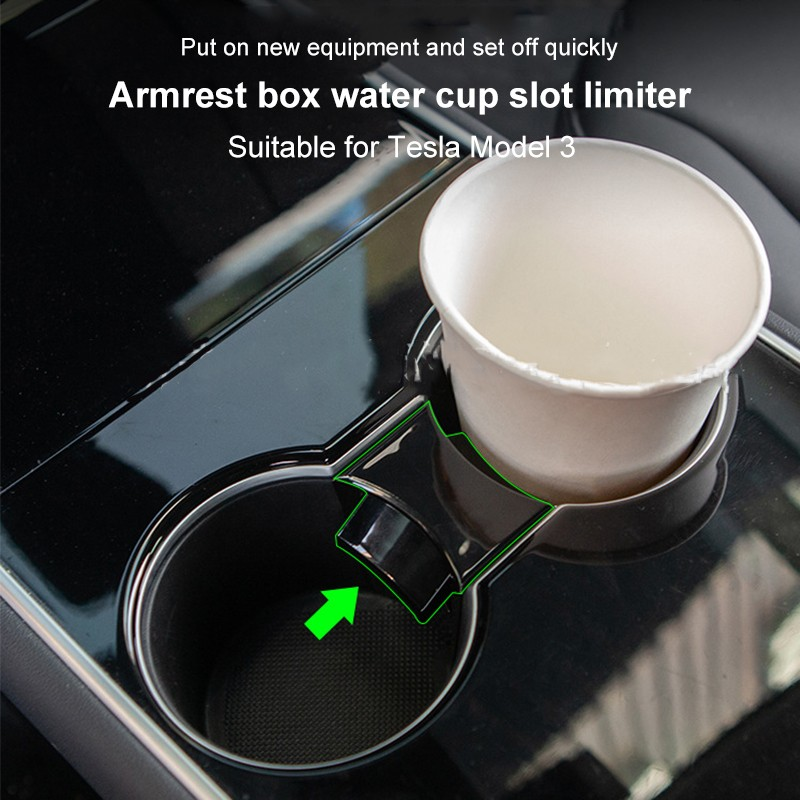 Model3 Tesla Car Water Cup Holder For Tesla Model 3 Accessories Interior For Tesla Model Y Model Three 2017-2020