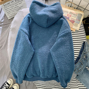 Image 4 - ฤดูใบไม้ร่วงฤดูหนาวสีชมพูSweet Hoodedขอโทษพิมพ์HarajukuหลวมHoodiesสตรีขนแกะFlannel Pulloverหญิงเสื้อกันหนาว