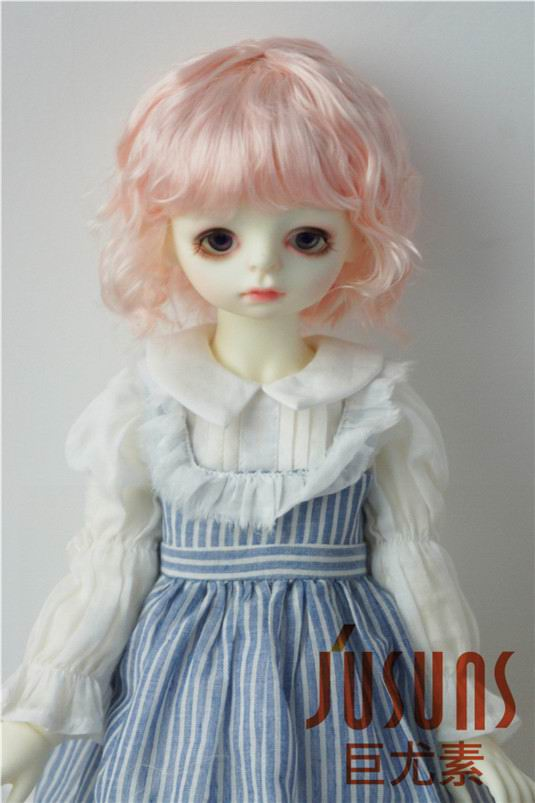 Image 4 - JD260 Large Size 9 10 inch 10 11inch Doll Wig Pretty synthetic mohair BJD wigs Lady slight Wave doll hair doll accessoriesDolls Accessories   -