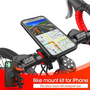 Image 5 - العالمي دراجة جبل حامل هاتف دراجة قوس كليب يمكن تدوير حامل مع صدمات حافظة للآيفون 11Pro XS ماكس Xr 8plug 76