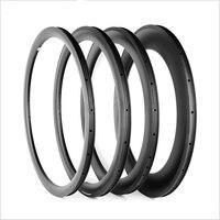 1pcs 700C 38 50 60 88mm tubular clincher rim Road bike 3K UD 12K carbon bicycle wheels rims 23mm 25mm width