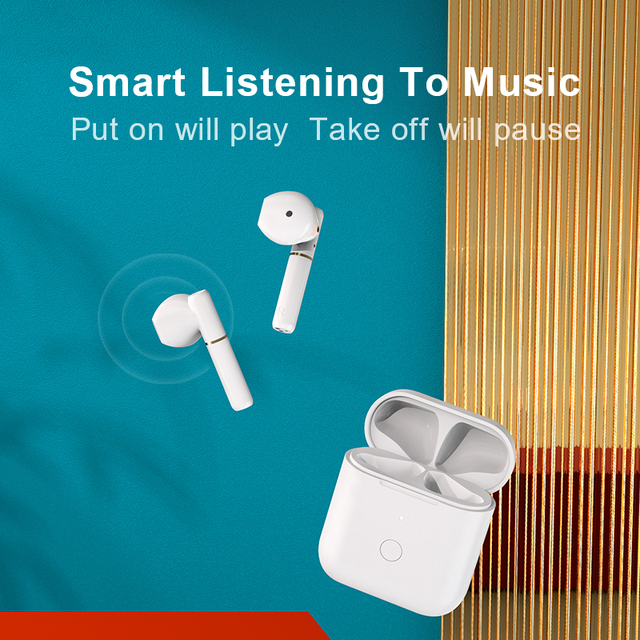 QCY T8 Bluetooth Earphone Semi-in-ear Wireless TWS Dual Connection Headphone Hall Magnetic Earbuds with Microphone Headset 6