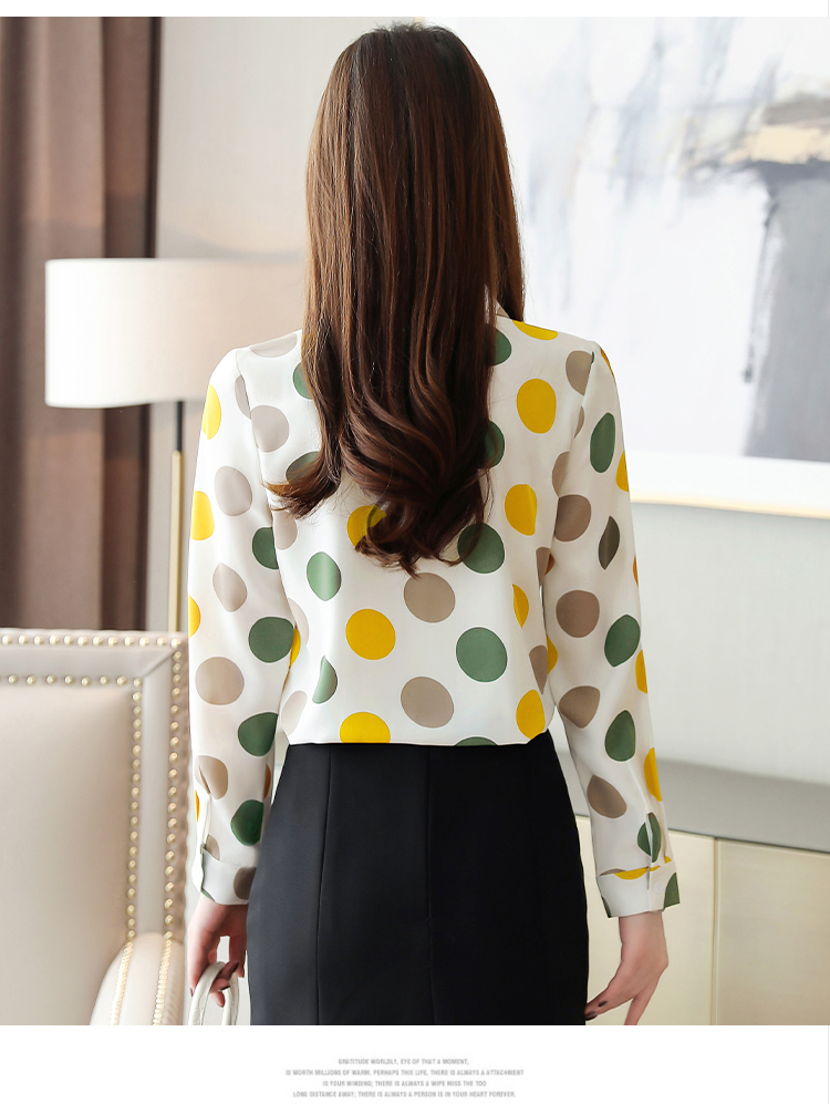 Chiffon Polka Dot Geometric Shirt 2