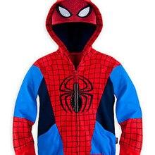 Осенний свитер толстовки с капюшоном для мальчиков, пальто Мстители, супергерои Marvel, Железный человек, Тор, Халк, Капитан Америка, Человек-паук, для мальчиков возрастом от 2 до 7 лет