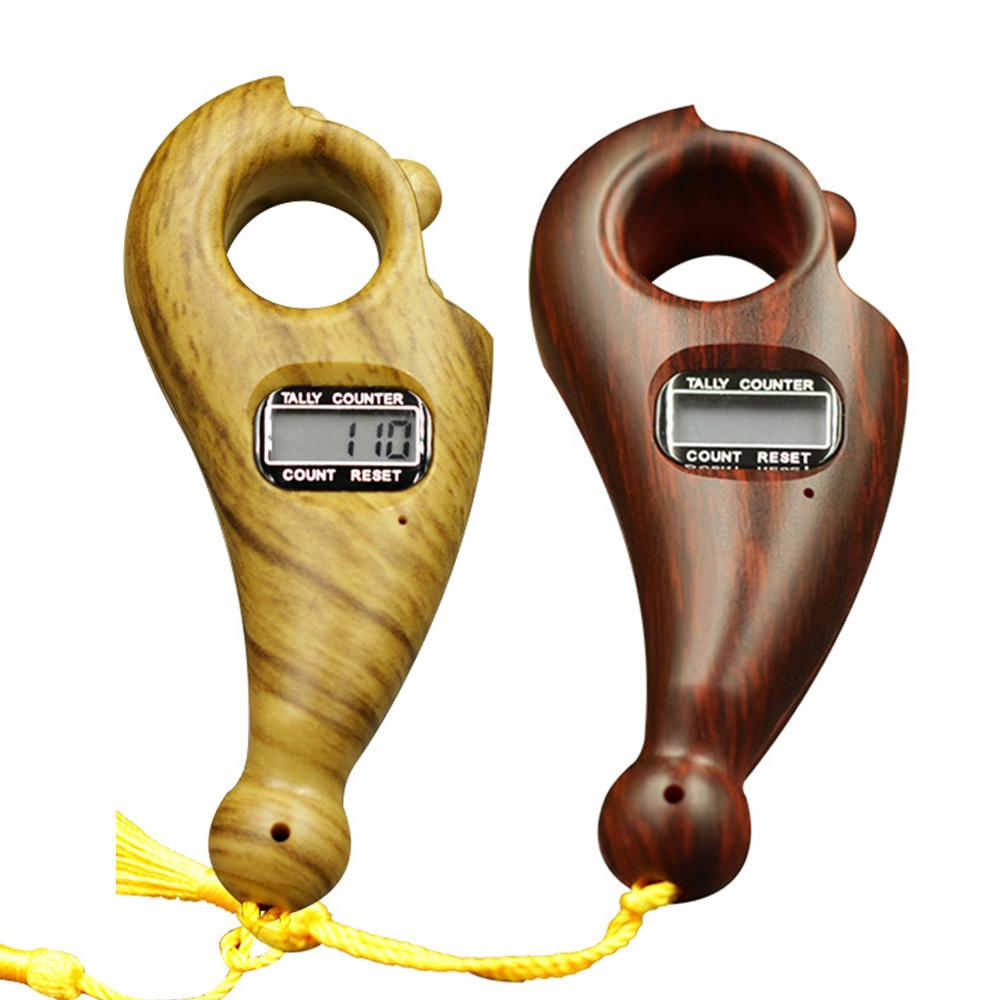 Scroll Relaxation Battery Powered Decompression Toy ABS Mini Handheld Digital Display Buddha Beads Counter Portable For Buddhist