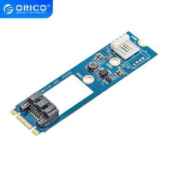 ORICO SATA 7PIN to M.2 NGFF Adapter With Power SSD Adapter SATA to M.2 Adapter For 2242 2260 2280 SATA 3 to M.2 NGFF SSD